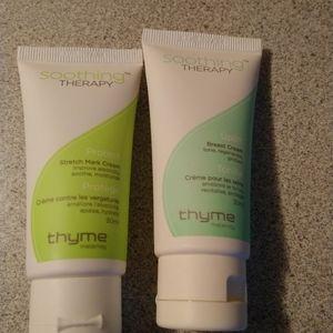 3/22$ Thyme Maternity bundle of 2 new cream